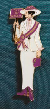 Suffragist Pin