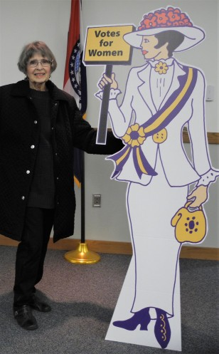 suffragist with its creator